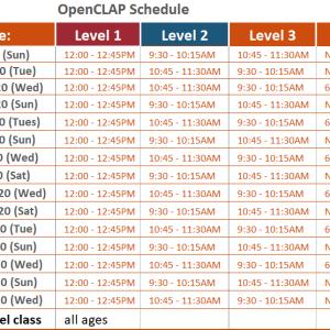 OpenCLAP schedule